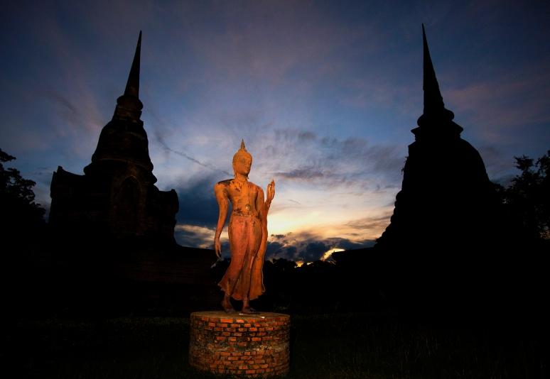 Walking Buddha Sukhothai (c) Tim Peterson